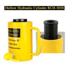 Vérin hydraulique creux RCH-3050 vérin hydraulique avec Tonnage de 30T, course de travail de 50mm