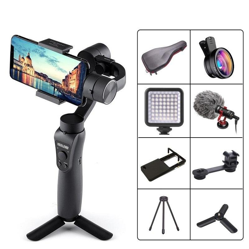 3 Axis Handheld Gimbal Stabilizer for Smartphone Action camera Video Record tik  tiktok tok Vlog Live