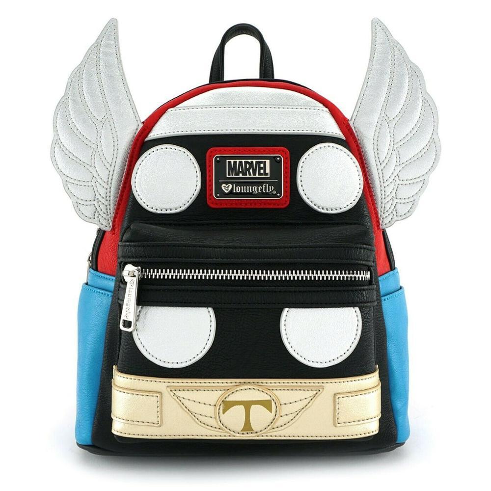 Película Thor 3 Ragnarok Loki Laufeyson casco Cosplay vengadores mochila lona viaje adulto estudiante bolsos de hombro accesorio de regalo