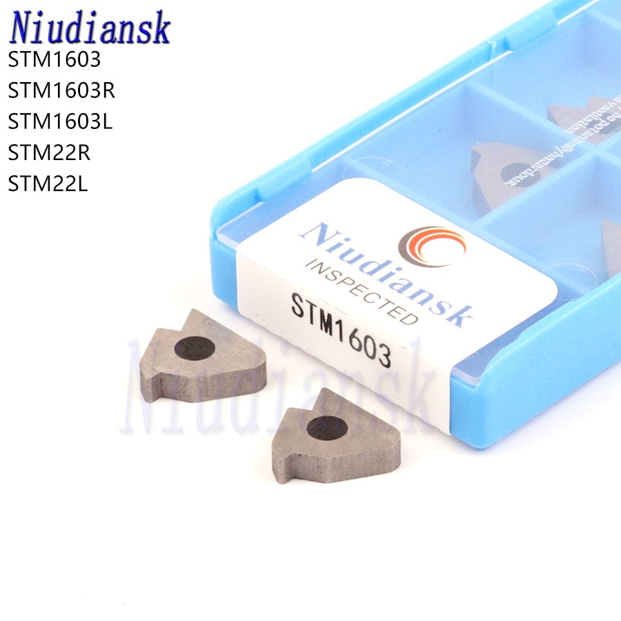 10pcs STM1603 STM1603R STM1603L STM22R STM22L Thread Knife Pad CNC Lathe Accessories Carbide Insert Shim For Thread Turning Tool