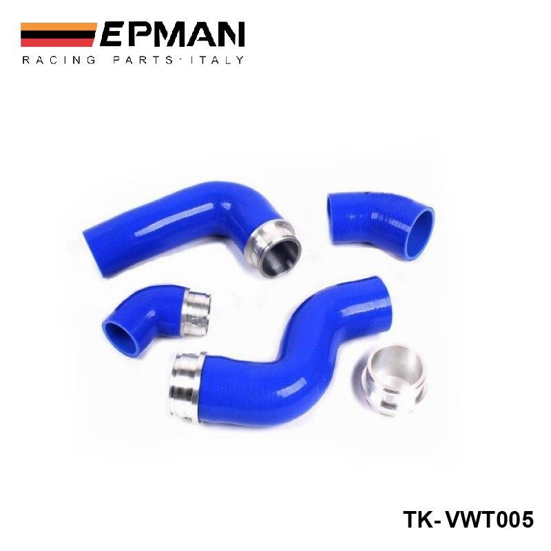 Kit de manguera Turbo de inducción Intercooler de silicona para VW Golf MK5 GTI 2.0FSI/JETTA GLI 2.0TDI (4 piezas) EP-VWT005