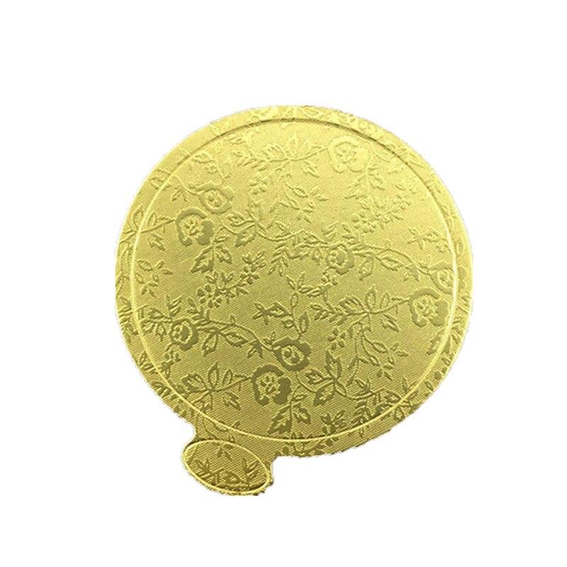 Placa de bolo de mousse redonda ouro papel cupcake sobremesa exibe bandeja bolo de aniversário casamento pastelaria ferramentas decorativas kit cor do ouro