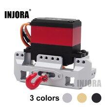 Support Servo avant en métal INJORA 25T roue de treuil Servo pour voiture sur chenilles 1/10 RC Traxxas TRX4