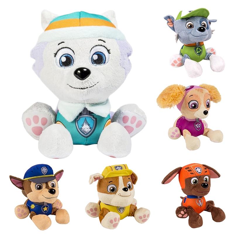 12-20 cm patrulla canina Skye Everest Tracker robo-dog muñeca animé de peluche juguetes para niños figura de acción muñeco de peluche modelo regalo de Navidad