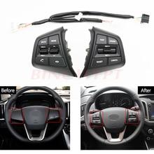 Seven color Multifunctional steering wheel control button for Hyundai  creta ix25 1.6 Car Steering Wheel Remote Cruise  Button