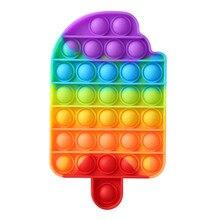 Divertente Push Bubble Fidget giocattoli adulti bambini Reliver Stress giocattolo sensoriale arcobaleno Push Bubble Squishy autismo giocattoli Antistress