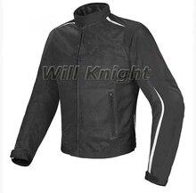 Dain-blouson en maille pour vtt   Noir et blanc, veste de moto et de vélo tout-terrain dété