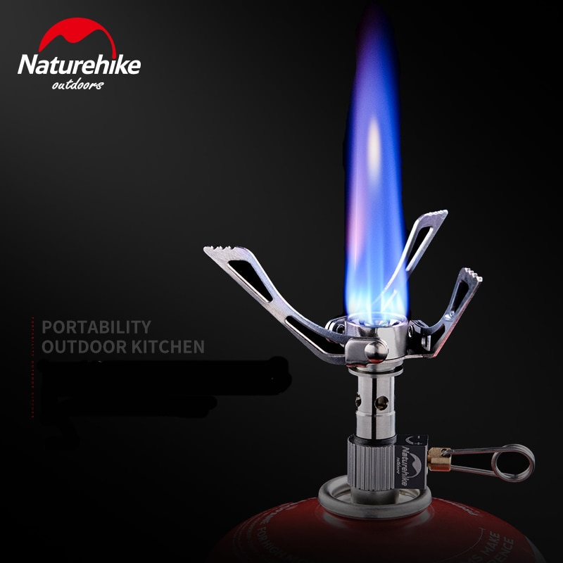 Naturehike Mini 40g Camping al aire libre estufa de acero quemador plegable multifunción Ultra ligero estufa plegable de alta calorías