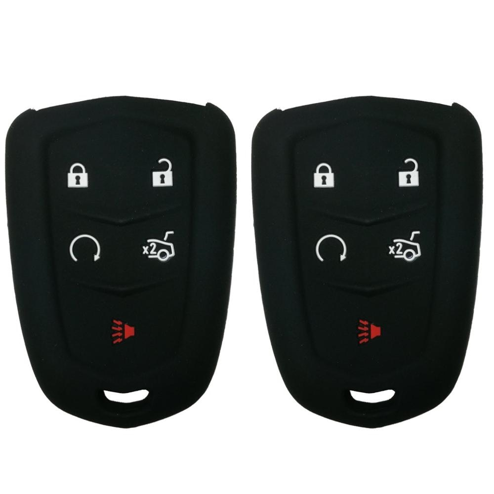 Smart Key Fob funda sin llave soporte de entrada piel remota chaqueta para 2018 2017 2016 Cadillac CT6 XT5 CTS XTS SRX ATS HYQ2AB HYQ2