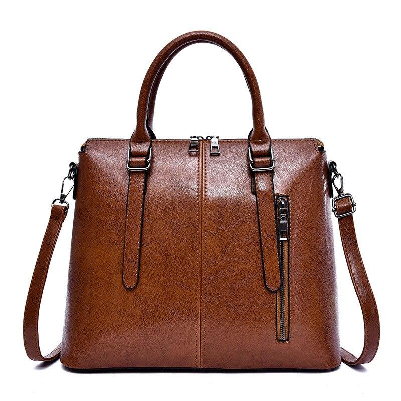FUNMARDI ريترو بو حقائب يد جلدية للنساء الفاخرة عالية السعة حقائب كروسبودي سيدة العلامة التجارية الأعلى مقبض بلون حقائب WLHB2416