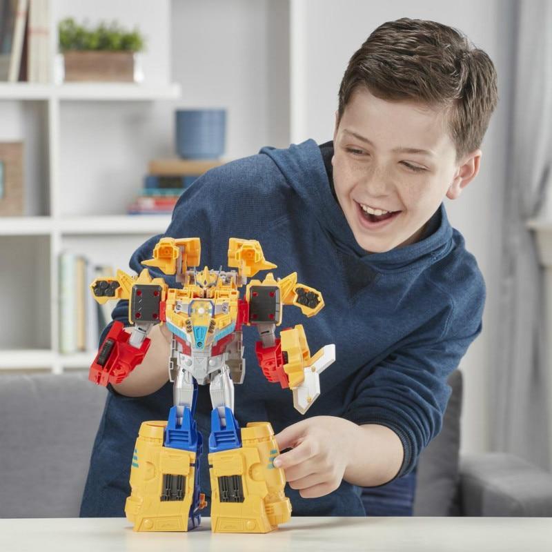 27.3cm NEW Hasbro Transformers Toys Cyberverse Spark Armor Ark Power Optimus Prime Action Figure PVC Action & Toy Figures