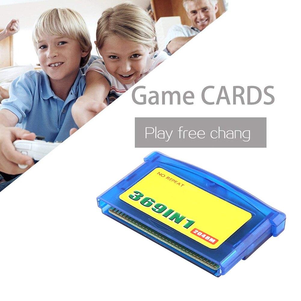 369 no clássico jogo cartão de memória console portátil casa acessórios do jogador cartucho de vídeo cartão de jogo plástico para nintendo gba