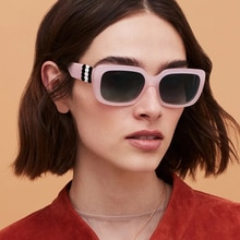 Women's Square Sunglasses European And American Fashion Trend ins Same Travel Metal Accessories Larg
