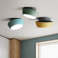 Postmodern LED Acrylic Ceiling Light Color Pizza Ceiling Lamp Lighting Nordic Loft Living Room Lamp Bedroom Decor Light Fixtures