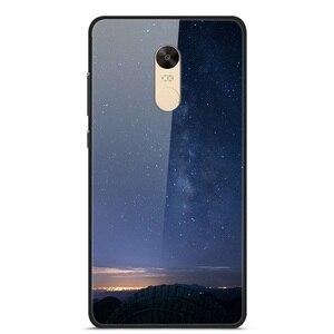 Glass Case For Xiaomi Redmi Note 4X Phone Case Phone Cover Phone Cell Back Bumper Star Sky Pattern