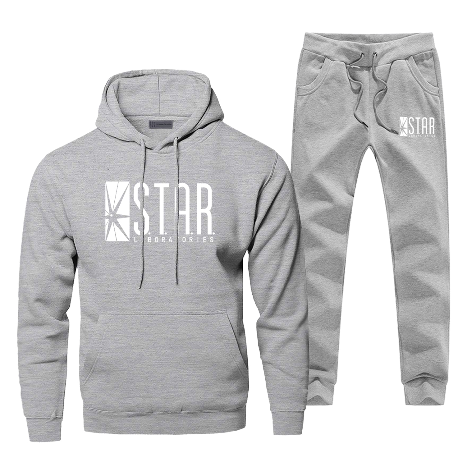 S.T.A.R Star Labs ropa para hombres Flash Cosplay traje completo de chándal de moda TV Show Fitness pantalones de chándal Bodywarmer Conjunto masculino
