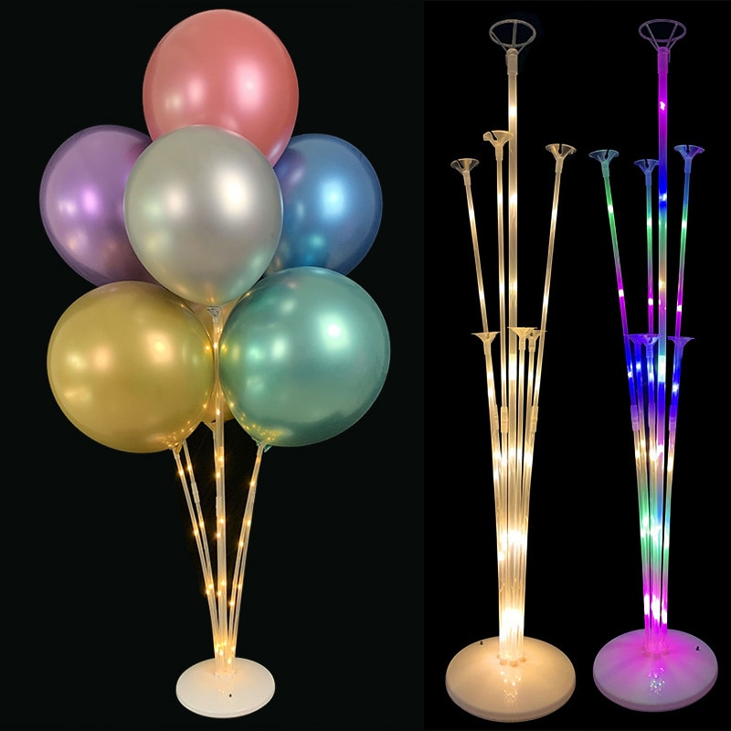 1 Set LED Light Balloon Column Support Display Stand Table Floating Birthday Wedding Party Decor Balloons Holder Stick Accessory
