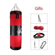 60cm-150cm chico/adulto saco de boxeo entrenamiento Fitness MMA boxeo Emtpy bolsa con regalo deporte KickBoxing Sandbag Muay Thai Boxer Set