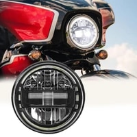 motorcycle 7 inch led headlight round with drl for harley touring street glide road king yamaha moto jeep wrangler jk tj