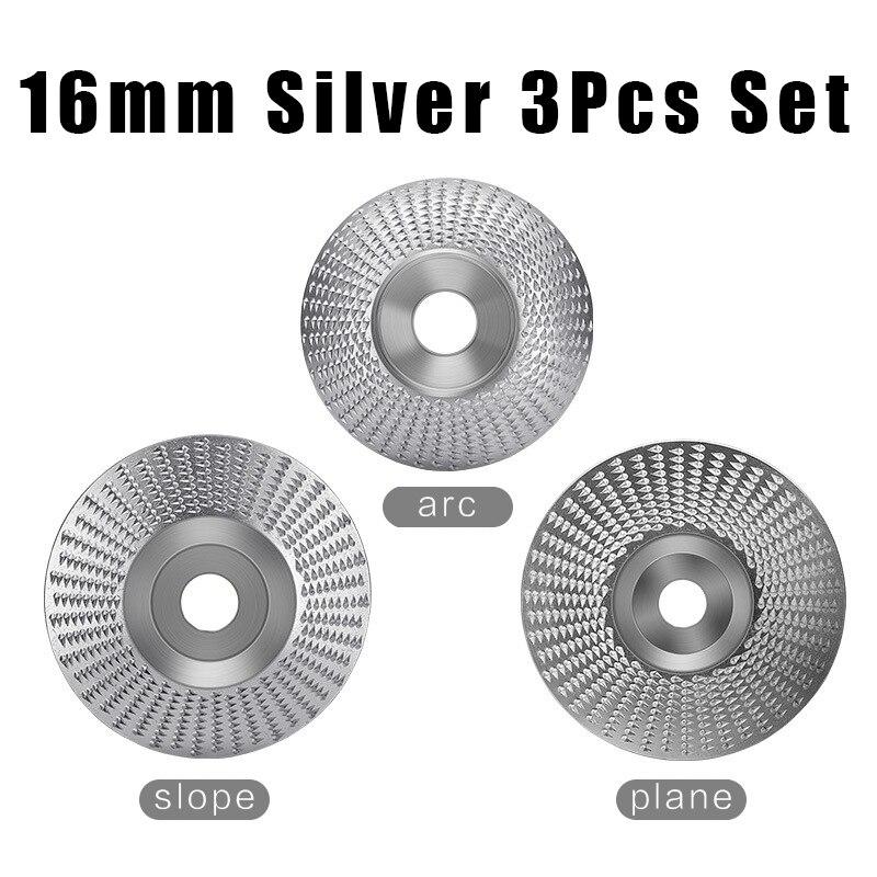 3pcs Set Bore 16mm Wood Grinding Polishing Wheel Rotary Disc Sanding Wood Carving Tool Abrasive Disc Tools for 4
