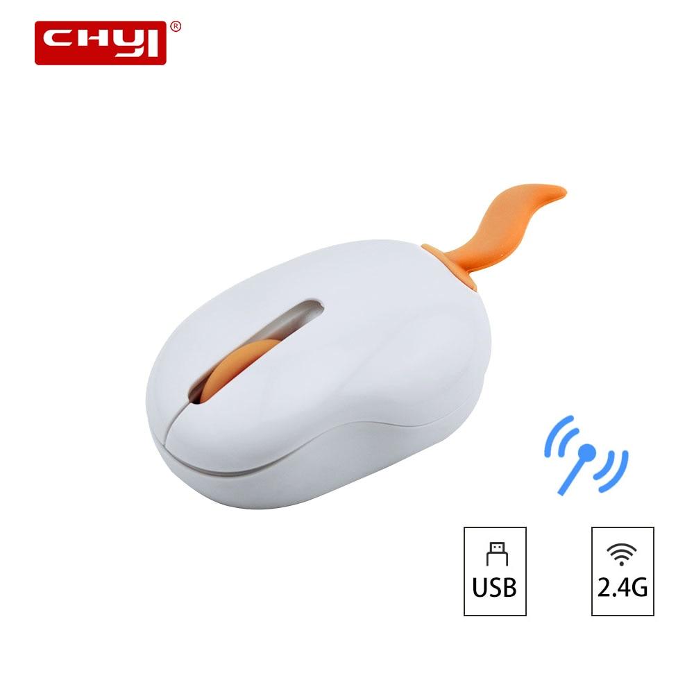 CHYI Wireless Cute Cartoon Shape Mini Mouse USB Optical 3D Computer Portable 1200 DPI Mice For Children Gifts PC Laptop Desktop
