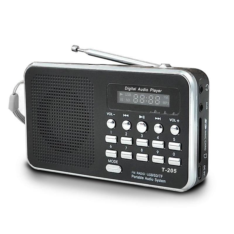 Mini altavoz estéreo portátil de Radio Am Fm compatible con tarjeta Sd/Tf con Usb (negro)