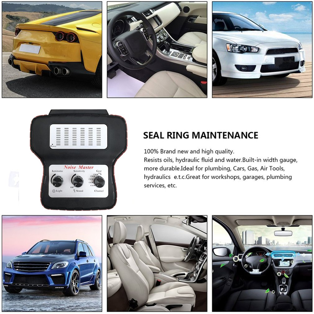 Car Electronic Stethoscope Repairs Tool Multi-Channel Automotive Noise Finder Noise Detection Tool enlarge