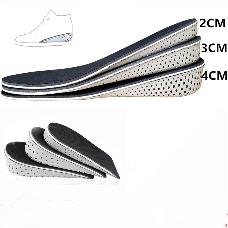 Comfortable Hard Breathable Memory Foam Height Increase Insole Heel Lifting Inserts Shoe Lifts Shoe