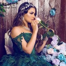 Dubai Blackish Green Luxury Evening Dresses 2020 Lace Glitter Crystal Evening Gowns