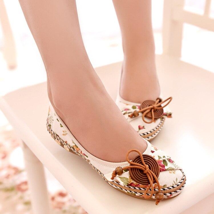 2019 Korean New Fashion Spring Women Flats Shoes Ladies Bow Square Toe Slip-On Flat Women's Shoes Plus Size 35-40
