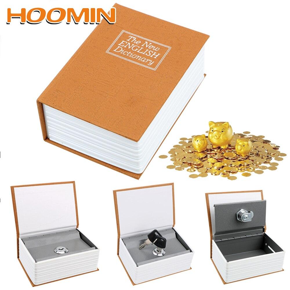 HOOMIN, Diccionario creativo, Huchas, Huchas, regalo de cumpleaños para niños con seguridad oculta secreta, seguro, libro, caja de ahorro de dinero