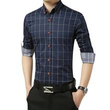 DAVYDAISY Neue Ankunft 2020 Herbst Männer Hemd Langarm Mann Geschäfts Kariertes Hemd Marke Kleidung Kleid Shirt Mann 6 Farben DS038