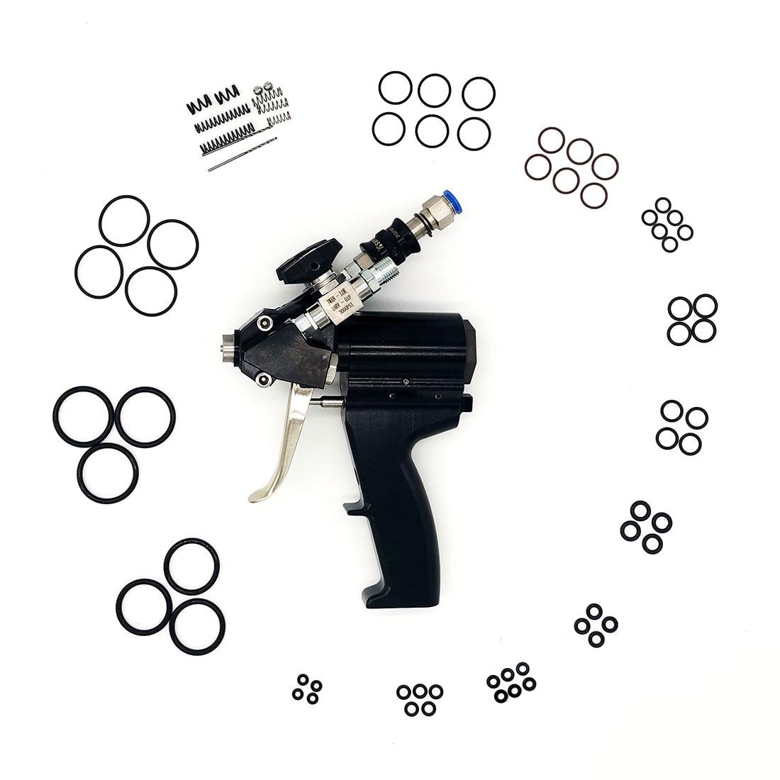 P2 PU مسدس رش للرغاوي البولي يوريثين تطهير الهواء بندقية رش التنظيف الذاتي مع مجموعة الملحقات