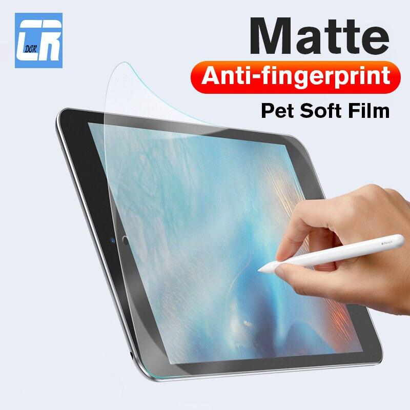 Película suave Pet mate Anti-huella para Apple iPad Mini 2 3 4 5, Protector de pantalla de cobertura completa para iPad Air 1 2, película no de vidrio