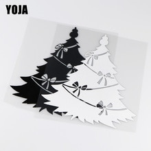 YOJA 18.1X18.8CM Beautiful Christmas Tree Vinyl Decals Decoration Car Sticker Accessories ZT4-0055