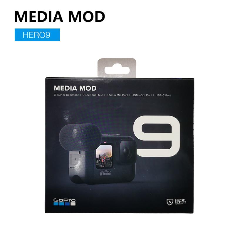GoPro-Accesorios de cámara Original, Media Mod, lente máxima Mod, luz Mod, pantalla...