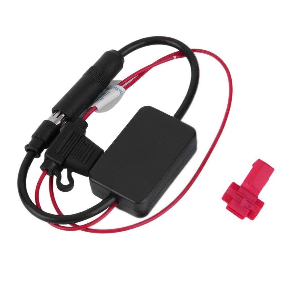 Автомобильный усилитель радиосигнала, 12 В, ANT-208, автомобильные транспортные средства, воздушный усилитель FM для усиления сигналов, черные а...