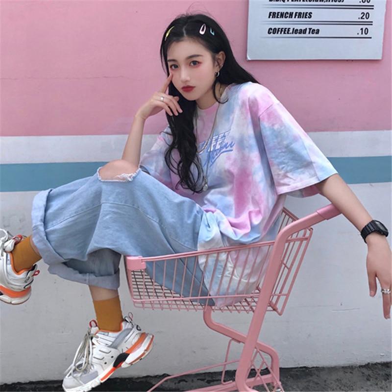 Camiseta de verano de talla grande para mujer, camisetas de manga corta con cuello redondo para mujer, camisetas casuales Harajuku, Camisetas básicas para mujer, envío gratis