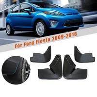 car mud guards for ford fiesta hatchback 2009 2014 2015 2016 splash guards over fender kit car styling fender accessories 4pcs