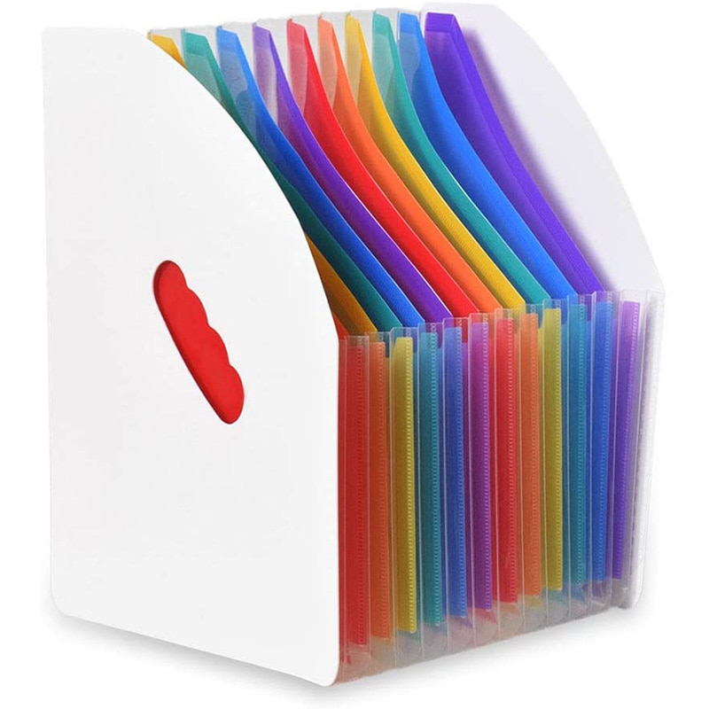 Archivador Vertical A4 de pie con expansión A +, organizador de archivos, cesta azine, archivador de escritorio con 13 bolsillos