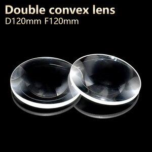 Double convex lenses magnifier Physical optics lens eyepiece telescope DIY projector Optical experiment D120mm F120mm