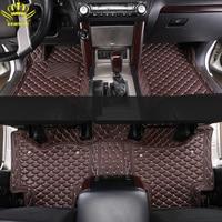 Custom Car Floor Mats For Nissan X-Trail Altima Qashqai AD Patrol Tiida Juke Fuga March Murano Serena Series Leather 3D Car Mats