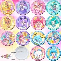 18pcs star twinkle pretty cure bedge collect figure bags badge button brooch pin souvenir anime cosplay gift