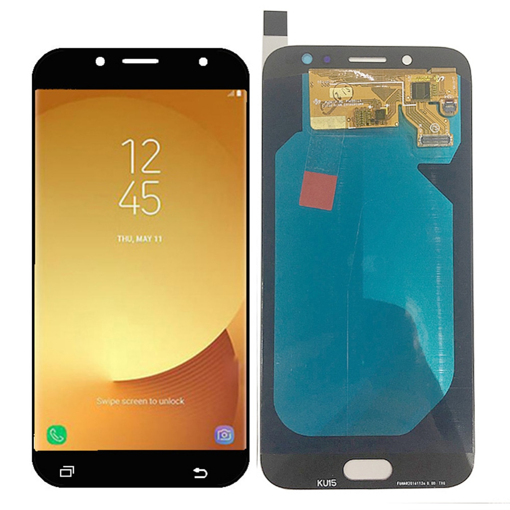Super AMOLED LCD para Samsung Galaxy J730 J7 Pro 2017 pantalla J730FM J730G J730F AMOLED LCD 5,5 herramientas de vidrio templado digitalizador