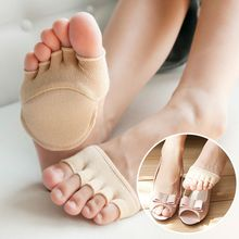 1Pair High Heels Cushions Anti-slip Silicone Dotted Invisible Forefoot Insoles