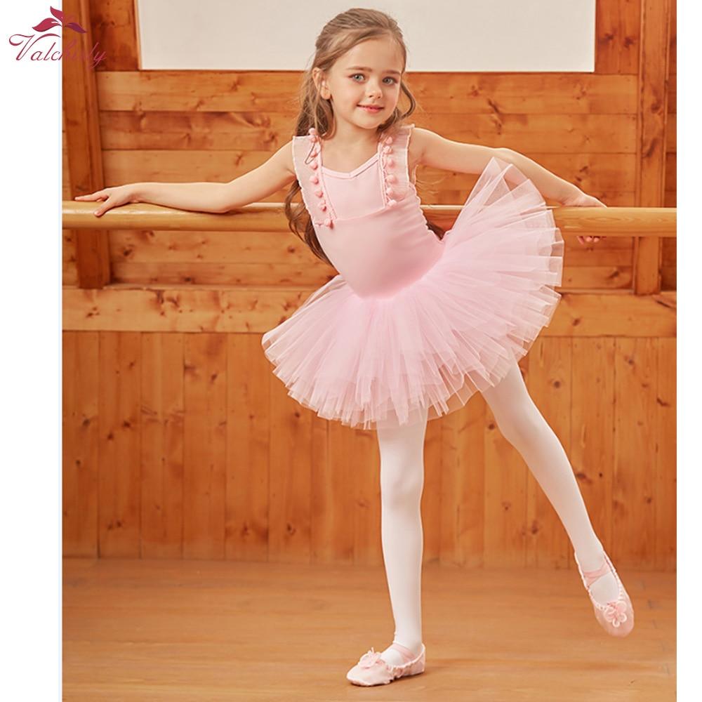 New Girls White Ballerina Tutu Dress Ballet Costumes Kids Dancewear Gymnastics Leotard for Child Performance