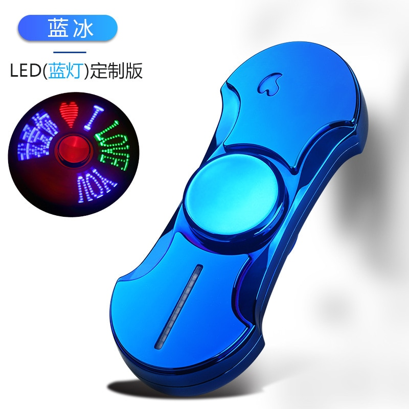 2020 USB Charging Lighters Fingertip Gyro Luminous Metal Fidget Hand Spinner Top Spinners Stress Cigarette Accessorie Men Gift E enlarge