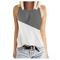 plus size women shirts tops print o neck tops sleeveless workout shirts casaul top oversized loose tees streetwear female r5