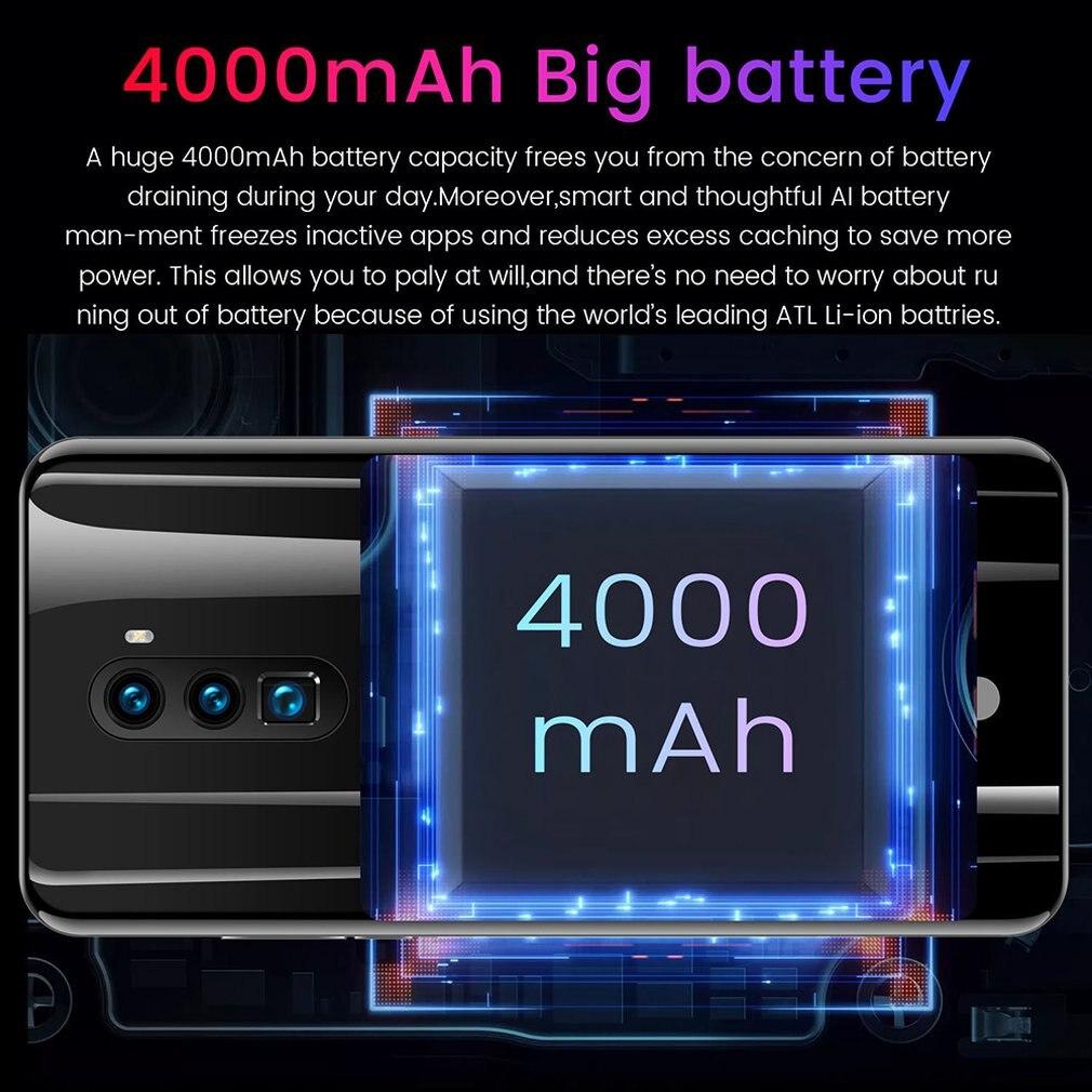 5.8 Inches High Definition Screen Black Intelligent Mobile Phone 512MB+4G 2 Megapixel 2000mah Fingerprint Unlock enlarge