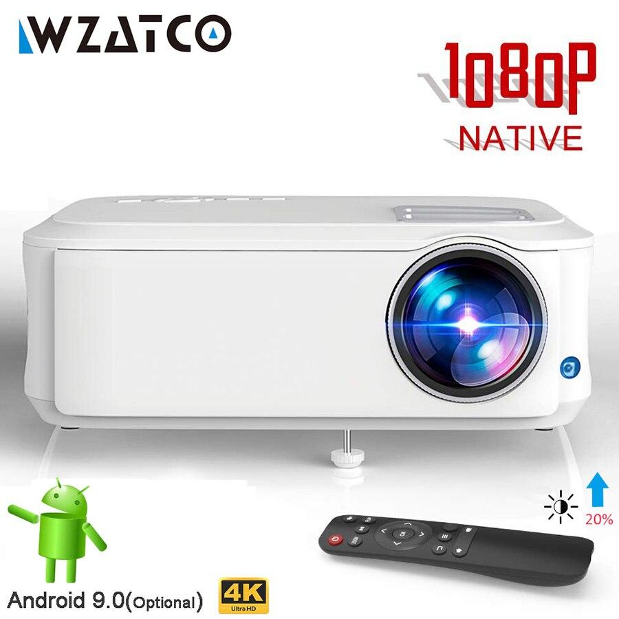WZATCO-Proyector portátil para cine en casa modelo T59, dispositivo de proyección 4k...